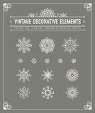 Vintage decorative elements. Hipster design. Set Royalty Free Stock Images