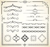 Vintage decorative elements. Set of vintage elements for page decoration Royalty Free Stock Photos