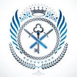 Vintage decorative emblem composition, heraldic vector. Stock Images