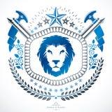 Vintage decorative emblem composition, heraldic vector. Royalty Free Stock Photo