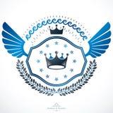 Vintage decorative emblem composition, heraldic vector. Stock Photography