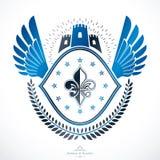 Vintage decorative emblem composition, heraldic vector. Stock Photo