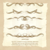 Vintage decorative filigree swirled ornaments. Poster. Vector illustration Stock Photography