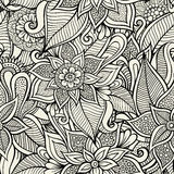 Vintage decorative floral ornamental seamless pattern Stock Photos