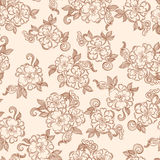 Vintage decorative floral seamless texture Stock Photos