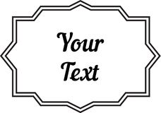 Vintage decorative frame labels for text and photos Stock Images