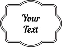 Vintage decorative frame labels for text and photos Royalty Free Stock Image