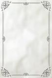 Vintage decorative frame on paper background Stock Images