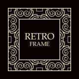 Vintage decorative frame vector illustration