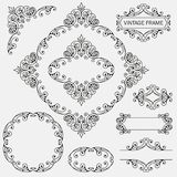 Vintage decorative frames set Stock Images