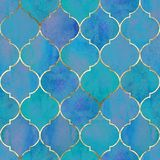 Vintage decorative grunge indian, moroccan seamless pattern stock images