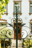 Vintage decorative iron gate detail Stock Photography