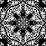 Vintage decorative lace round pattern. Floral ornament Stock Photography