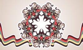 Vintage decorative mandala star Stock Images