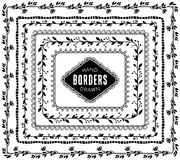 Vintage decorative nature borders. Hand drawn vector elements Royalty Free Stock Photo