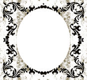 Vintage decorative oval grunge Stock Image