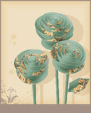 Vintage decorative paper roses. Stock Photo