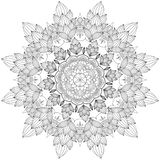 Mandala Intricate Patterns Black and White Good Mood. stock illustration