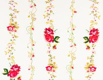 Vintage decorative red rose paper Royalty Free Stock Image