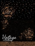 Vintage decorative roses vector Stock Photo