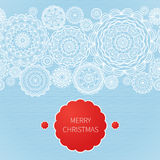 Vintage decorative seamless border with lacy ornament. Christmas vector background. Place for your text. It can be used for decorating of invitations, greeting Royalty Free Stock Images