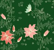 Vintage decorative seamless floral background pattern. Decorative backdrop for fabric, textile, wrapping paper, card, invitation Stock Images
