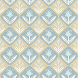 Vintage decorative seamless pattern with floral. Background with leaves and flowers, decorative floral texture stock illustration