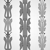 Vintage decorative set monochrome floral pattern seamless vertic Royalty Free Stock Photography