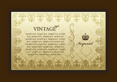 Vintage decorativo da estrutura velha imperial Imagem de Stock Royalty Free