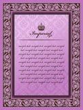 Vintage decorativo da flor imperial do frame da cor Imagens de Stock Royalty Free