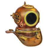 Vintage deep sea diving helmet isolated on white. Vintage deep sea diving helmet isolated on a white background Stock Images