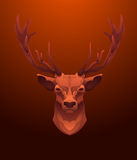 Vintage Deer label. Retro vector design graphic Royalty Free Stock Photos