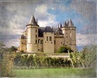 Vintage del castillo francés de Saumur Imagen de archivo libre de regalías