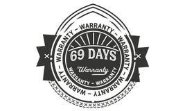vintage del diseño de la garantía de 69 días, la mejor colección de sello stock de ilustración