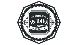 vintage del diseño de la garantía de 16 días, la mejor colección de sello libre illustration