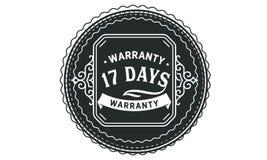 vintage del diseño de la garantía de 17 días, la mejor colección de sello libre illustration