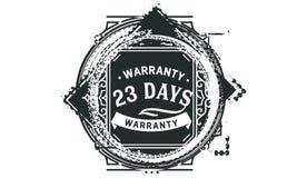 vintage del diseño de la garantía de 23 días, la mejor colección de sello stock de ilustración