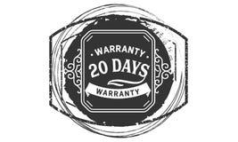 vintage del diseño de la garantía de 20 días, la mejor colección de sello libre illustration