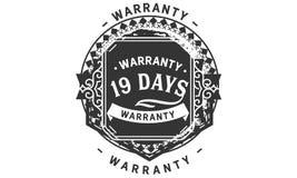 vintage del diseño de la garantía de 19 días, la mejor colección de sello libre illustration