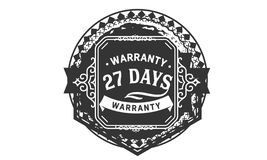 vintage del diseño de la garantía de 27 días, la mejor colección de sello libre illustration
