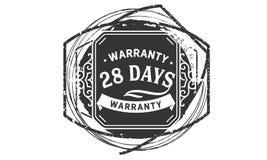 vintage del diseño de la garantía de 28 días, la mejor colección de sello libre illustration