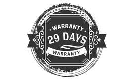 vintage del diseño de la garantía de 29 días, la mejor colección de sello ilustración del vector