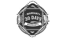 vintage del diseño de la garantía de 30 días, la mejor colección de sello stock de ilustración