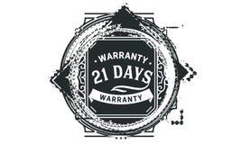 vintage del diseño de la garantía de 21 días, la mejor colección de sello libre illustration