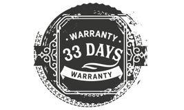 vintage del diseño de la garantía de 33 días, la mejor colección de sello libre illustration