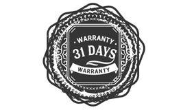 vintage del diseño de la garantía de 31 días, la mejor colección de sello stock de ilustración