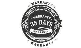 vintage del diseño de la garantía de 35 días, la mejor colección de sello ilustración del vector