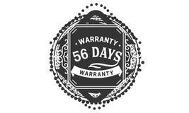 vintage del diseño de la garantía de 56 días, la mejor colección de sello ilustración del vector