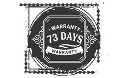 vintage del diseño de la garantía de 73 días, la mejor colección de sello ilustración del vector