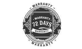 vintage del diseño de la garantía de 72 días, la mejor colección de sello stock de ilustración